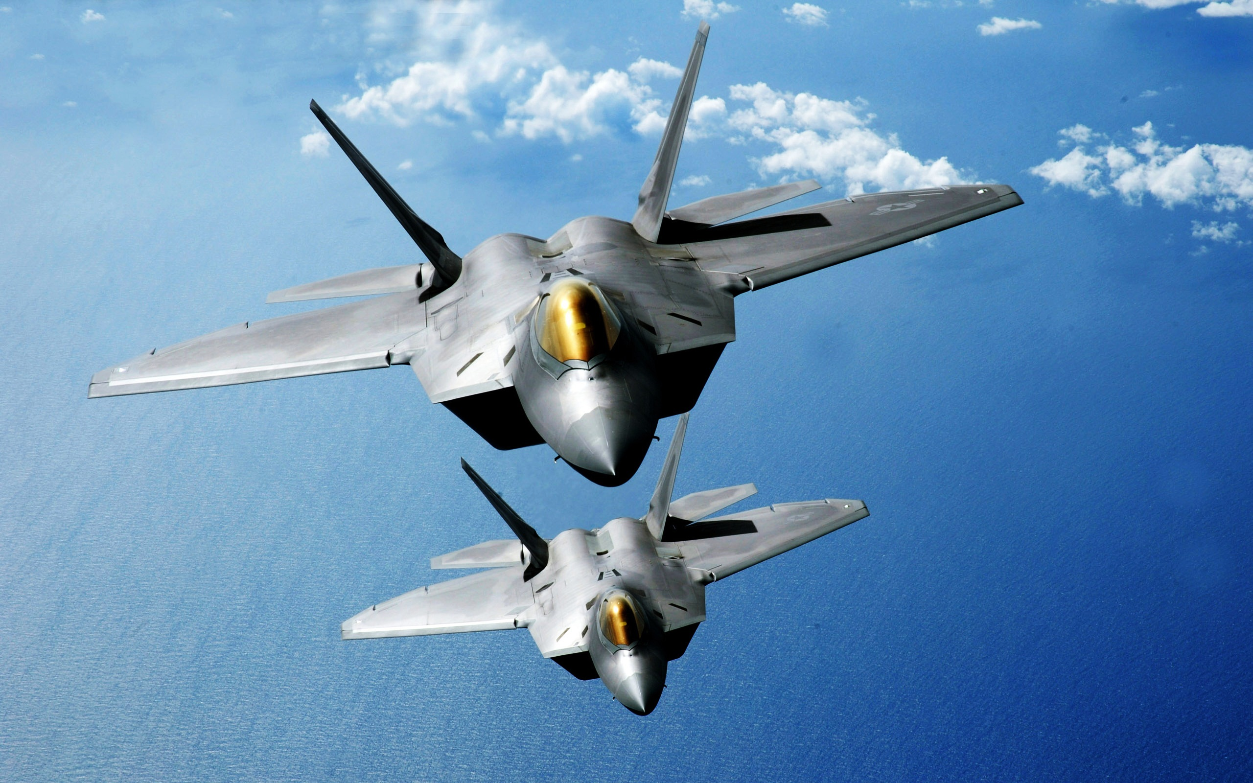 f 22 raptors over the pacific wide