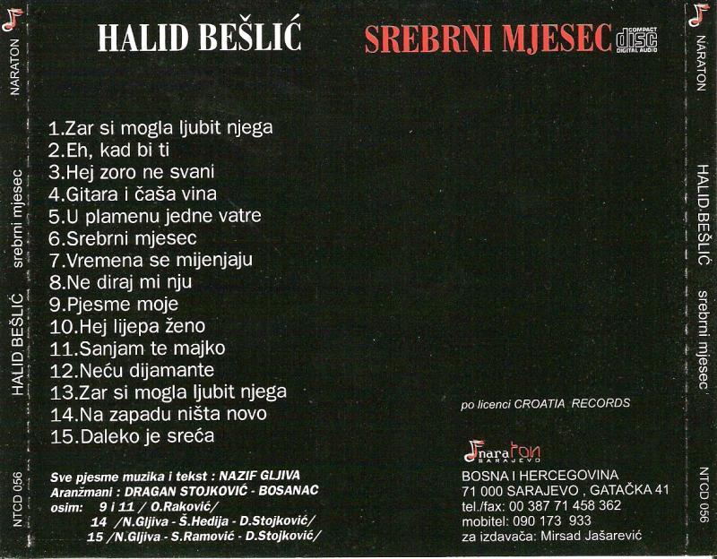 Halid Beslic 1997 Srebrni Mjesec Zadnja