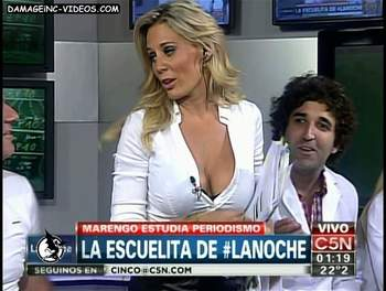 Big rack Rocio model on tv