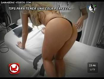 Alejandra model ass up in thong damageinc