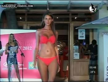 Magali Montoro sexy hips in bikini